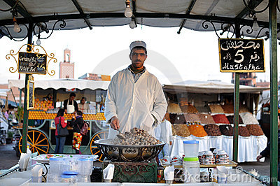 Market stand in Marrakesh Editorial Photo
