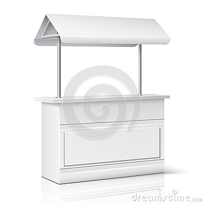 Free Market, Store Empty Stand For Trade Information And Business Presentation Vector Illustration Royalty Free Stock Photos - 77702898