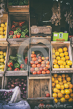 Free Market Storefront And Produce Stand Stock Photos - 74107633