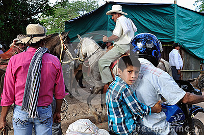 Market in Timana - Colombia Editorial Image