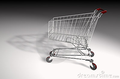 Market trolley isolated