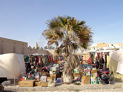 Market in Tunisia Editorial Photography