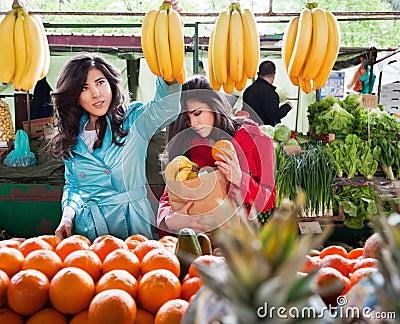 Market vegetables fruits