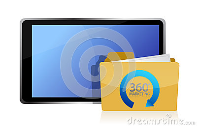 Marketing 360 and tablet
