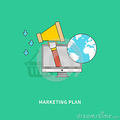 Marketing Advertise Of Product On Global Scale Stock Vector Image 55771994