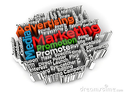 Marketing and advertising cloud word