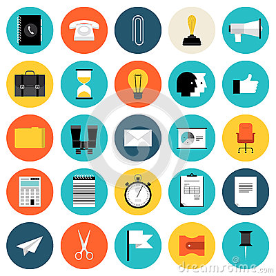 Free Marketing And Business Flat Icons Set Stock Photos - 39984223