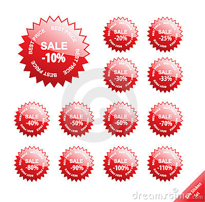 Marketing Labels Collection. Stock Photography - Image: 8844192