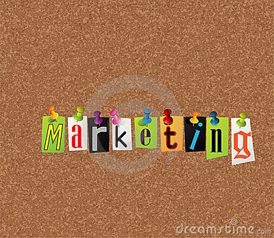 Marketing notice concept