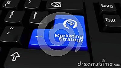 Marketing Strategie om Motie op de Knoop van het Computertoetsenbord vector illustratie