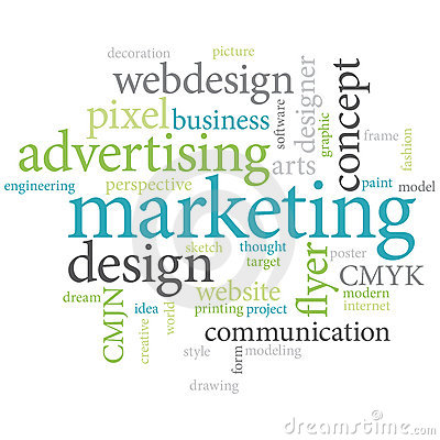 Marketing words cloud.