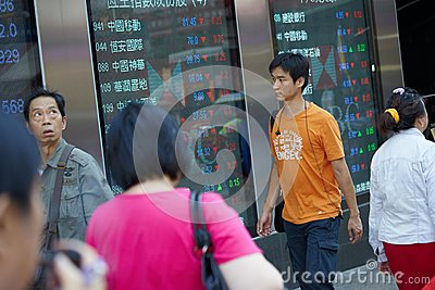 Markets and people Editorial Stock Photo
