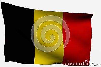 Flagge Belgiens 3d