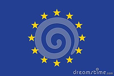 Markierungsfahne der Europäischer Gemeinschaft