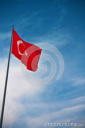 Markierungsfahne von der Türkei
