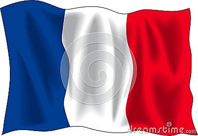 Markierungsfahne von Frankreich