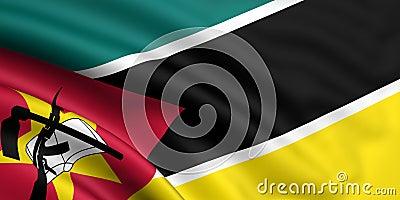 Markierungsfahne von Mosambik