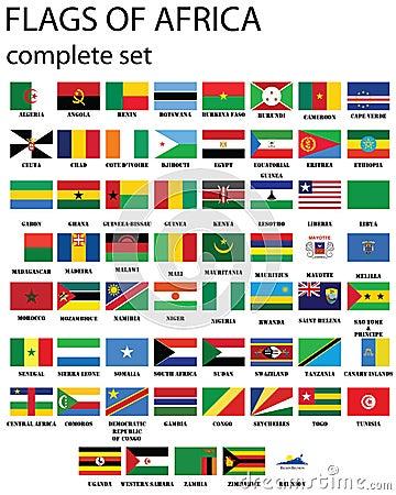Markierungsfahnen von Afrika