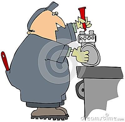 Marking A Gas Meter