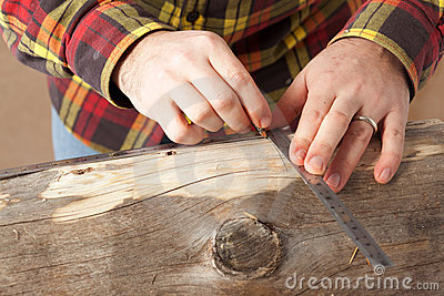 Marking A Log