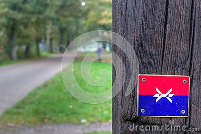 Marking Westerborkpad in Kamp Westerbork Editorial Stock Image