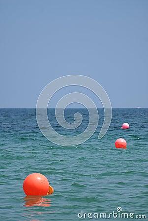 Markings in the water