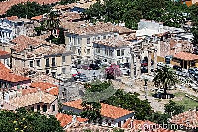 Marknadsplats forntida athens greece