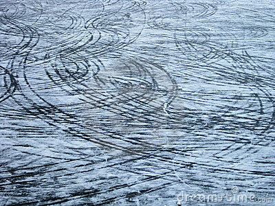Marks on the ice
