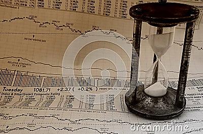 Markt, der Zeit 3 festsetzt