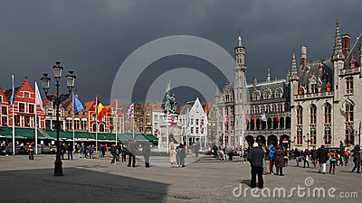 Markt , Bruges , Belgium Editorial Image