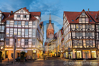 marktkirche and old town in hannover germany stock photo image 54545738. Black Bedroom Furniture Sets. Home Design Ideas