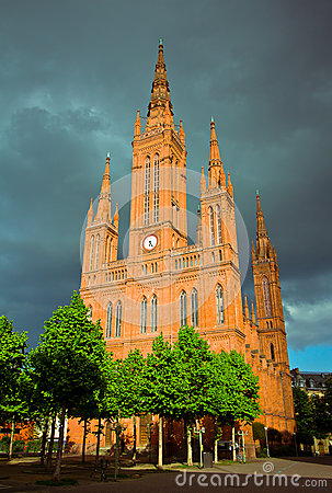 Marktkirche in Wiesbaden, Germany