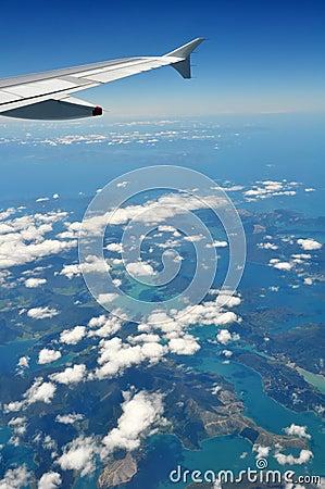 Marlborough Sounds & Picton, Aerial, New Zealand