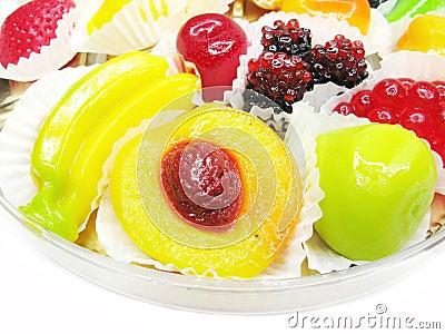 Marmalade gelatin fruits