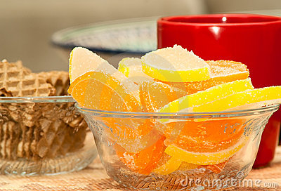 Marmalade lemon wedges