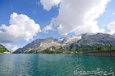 Marmolada and Dam - Dolomites, Italy