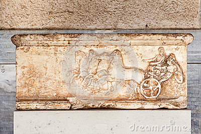 Marmorflachrelief-Agora-Museum Athen