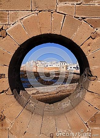 Marocko Essaouira från ramparten