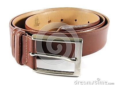 Maron leather belt