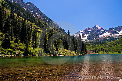 Maroon Bells at Maroon Lake