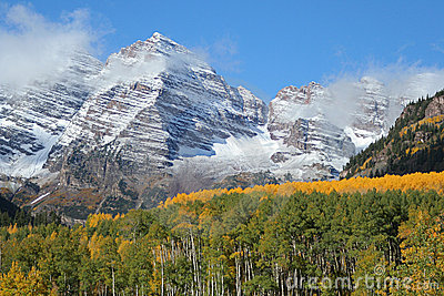 Maroon Bells, September aspens