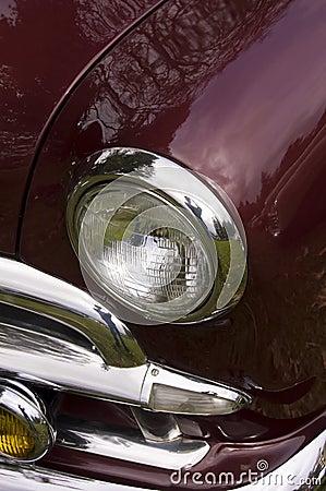 Maroon Classic Car