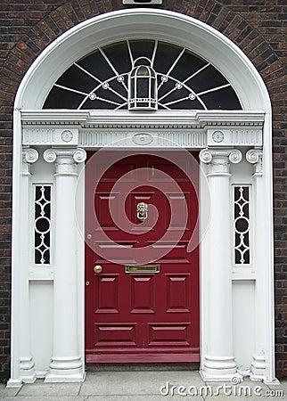 Free Maroon Dublin Door Royalty Free Stock Photos - 463538