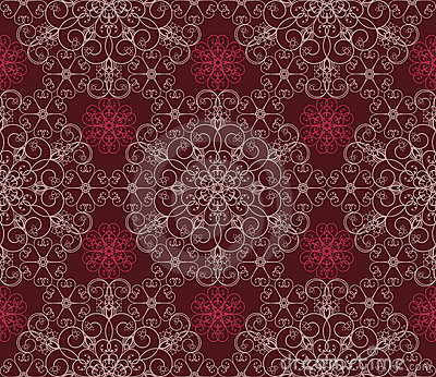 Maroon Floral seamless wallpaper pattern
