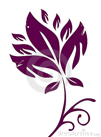 Maroon flower pattern