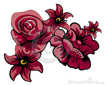 Maroon flowers