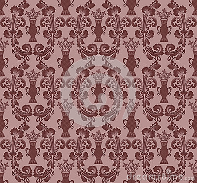 Maroon oval pattern