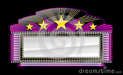 Marquee banner black