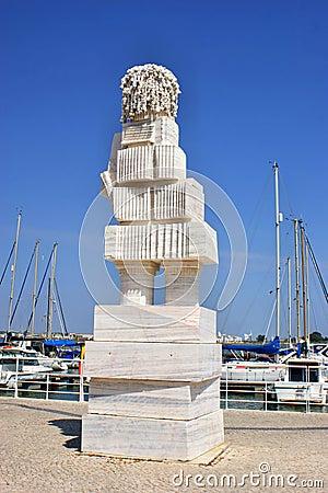 Marques de Pombal statue by Joao Cutileiro