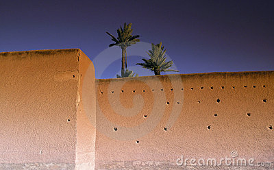Marrakech morocco rampart